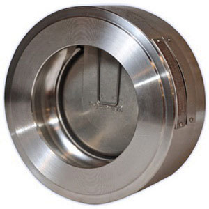 Hy-Grade Valve ST03-06G-10FN 316 Stainless Steel Class 300 Wafer Single Disc Check Valve, 6 in, Raised Face Serrated