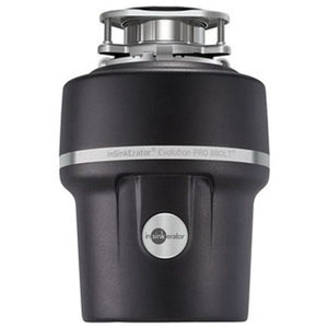 Insinkerator® 77227 Enamel Black Stainless Steel Grind Continuous Food Waste Disposer, 7/8 hp, 1725 rpm