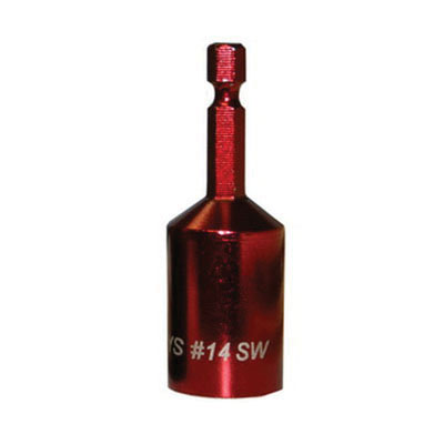 ITW Buildex 8114910 Red Steel Nut Driver, #14, SAE/Metric