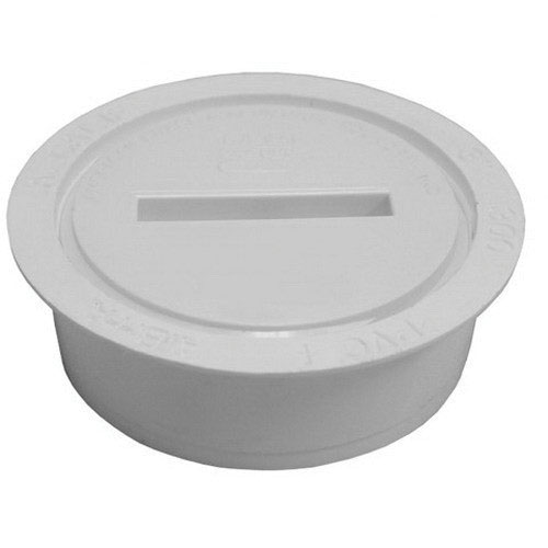 Jones Stephens™ PlumBest™ LTConnections™ C60007 White PVC SCH 40 Internal Pipe Cleanout, 3 in, Solvent Weld, Domestic