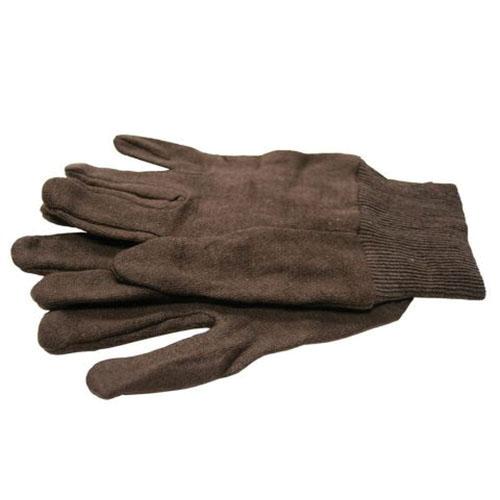 Jones Stephens™ G50200 Cotton Jersey Work Gloves, Brown