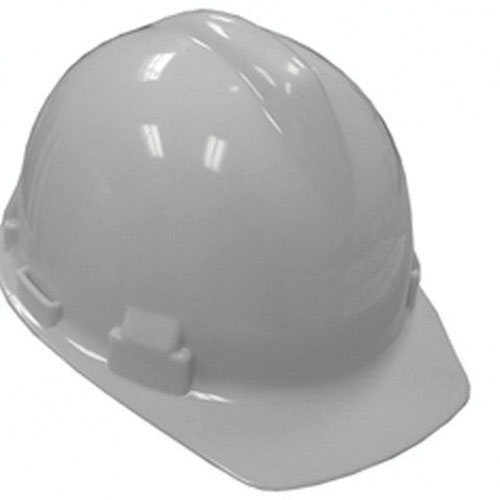 Jones Stephens™ H40002 Hard Plastic 4-Point Pin Lock Safety Hat, 6-1/2 - 8 in, White