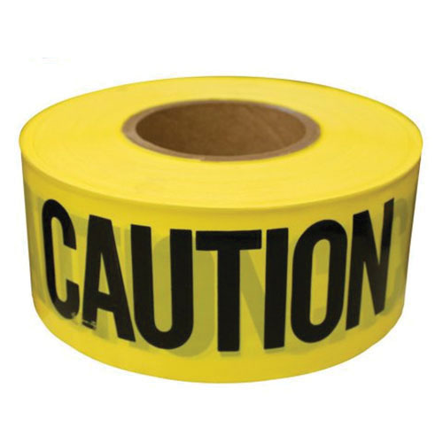 Jones Stephens™ J43-300 Caution Tape, 3 in x 300 ft, Black/Yellow