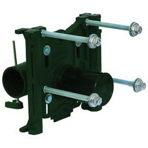 JOSAM 12674-OR Coated Green Cast Iron Left Hand Horizontal Water Closet Carrier, 4 in