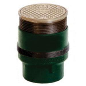 JOSAM Kleenatron® II 55004-1-Y Satin Cast Iron Leveleze Floor Cleanout, 4 in