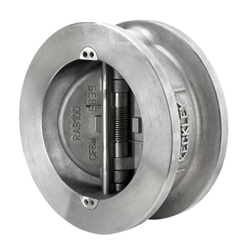 Keckley Style DD Epoxy Coated Cast 316 Stainless Steel Style DD Check Valve, Wafer Raised Face, 275 psi