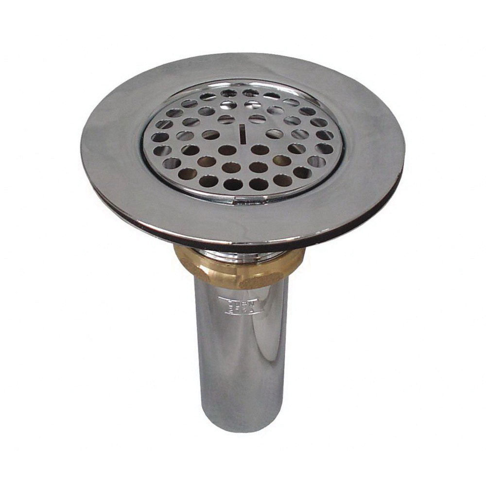 Keeney 1376TPC Polished Chrome Brass Wide Flange Strainer, 1-1/2 in, Threaded