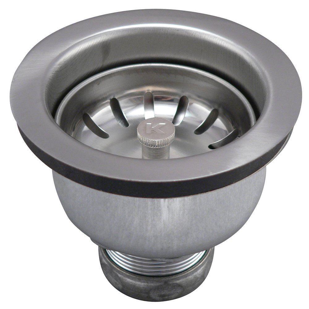 Keeney 1434SS Stainless Steel Deep Cup Sink Strainer