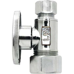 Keeney 2068PCLF Brass Straight Water Supply Stop Valve, 5/8 in x 3/8 in, Compression