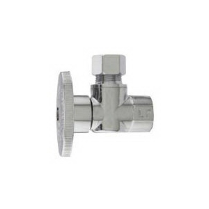 Keeney 2780PCLF Brass Angle Water Supply Stop Valve, 1/2 in x 3/8 in, Sweat x Compression