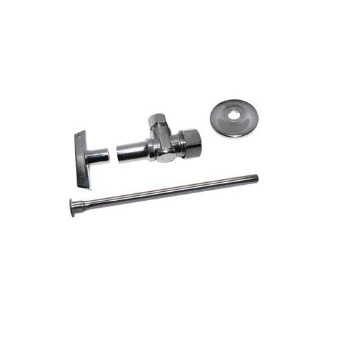 Keeney 2780PCLKL12LF Chrome Plated Loose Key Lavatory Supply Kit, 1/2 in Sweat