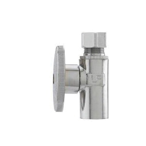 Keeney 2781PCLF Brass Straight Water Supply Stop Valve, 1/2 in x 3/8 in, Sweat x Compression