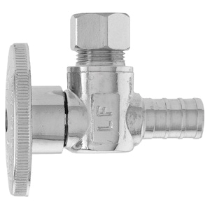 Keeney 2882PCLF Brass Angle Water Supply Stop Valve, 1/2 in x 3/8 in, PEX x Compression