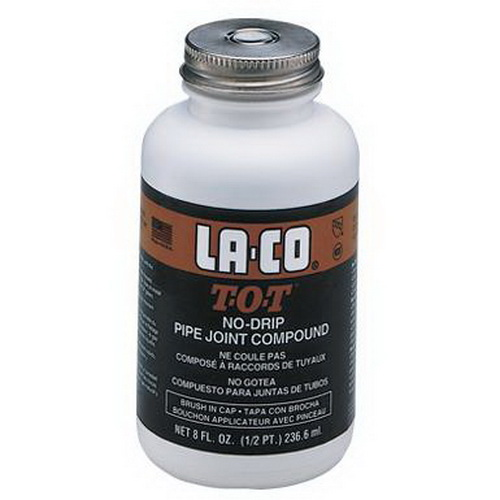LA-CO® T-O-T® 12219 Thread Sealant, 8 oz Brush Cap Bottle, Gray
