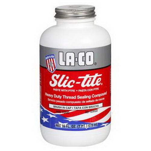 LA-CO® Slic-tite® 42019 Thread Sealant, 8 oz Brush Cap Bottle, White