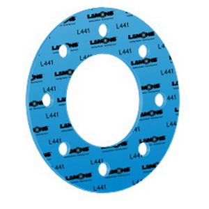 Lamons L441 Blue Aramid Fibers/NBR Binder Compressed Gasket Sheet, 60 in L x 60 in W x 1/16 in THK