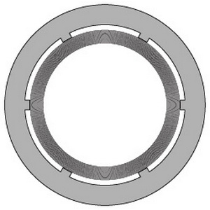 Lamons SpiraSeal® WR-150 Yellow Carbon Steel/Graphite Class 150 Spiral Wound Gasket