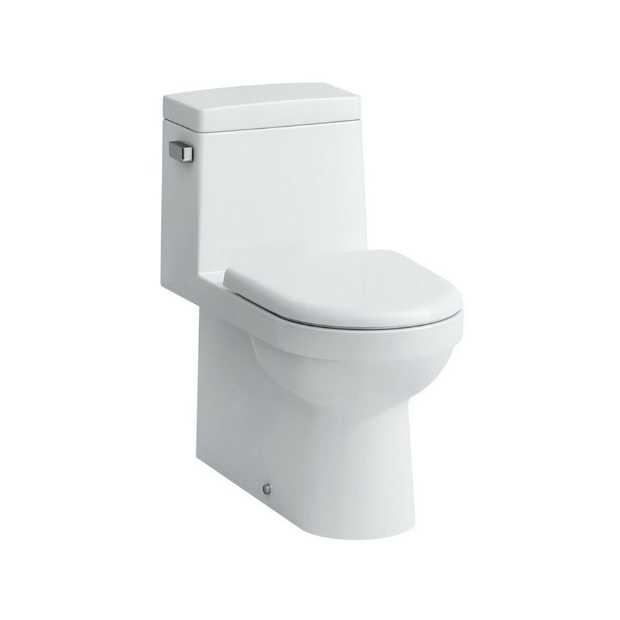 Laufen 823953 White Vitreous China 1-Piece Water Closet, 12 in Rough-In