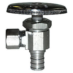 LEGEND 114-109NL Lead Free Chrome Plated Forged Brass Angle Multi-Turn Stop Valve, 1/2 in x 3/8 in, PEX x Tube, 110 psi