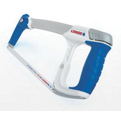 Lenox® 12132HT50 White/Blue/Gray Bi-Metal Blade/Rubber Handle High Tension Hacksaw, 16 in L, 4-1/4 in
