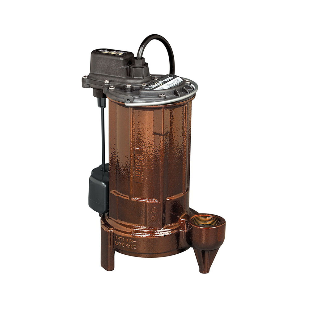 Liberty Pumps® 287 Cast Iron 1-Phase Automatic Submersible Effluent/Sump Pump, 62.5 gpm, 0.5 hp, 3450 rpm