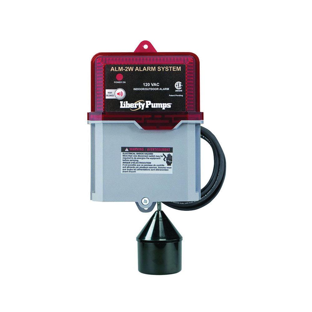 Liberty Pumps® ALM-2W Float Activated High Liquid Level Alarm, 115 V