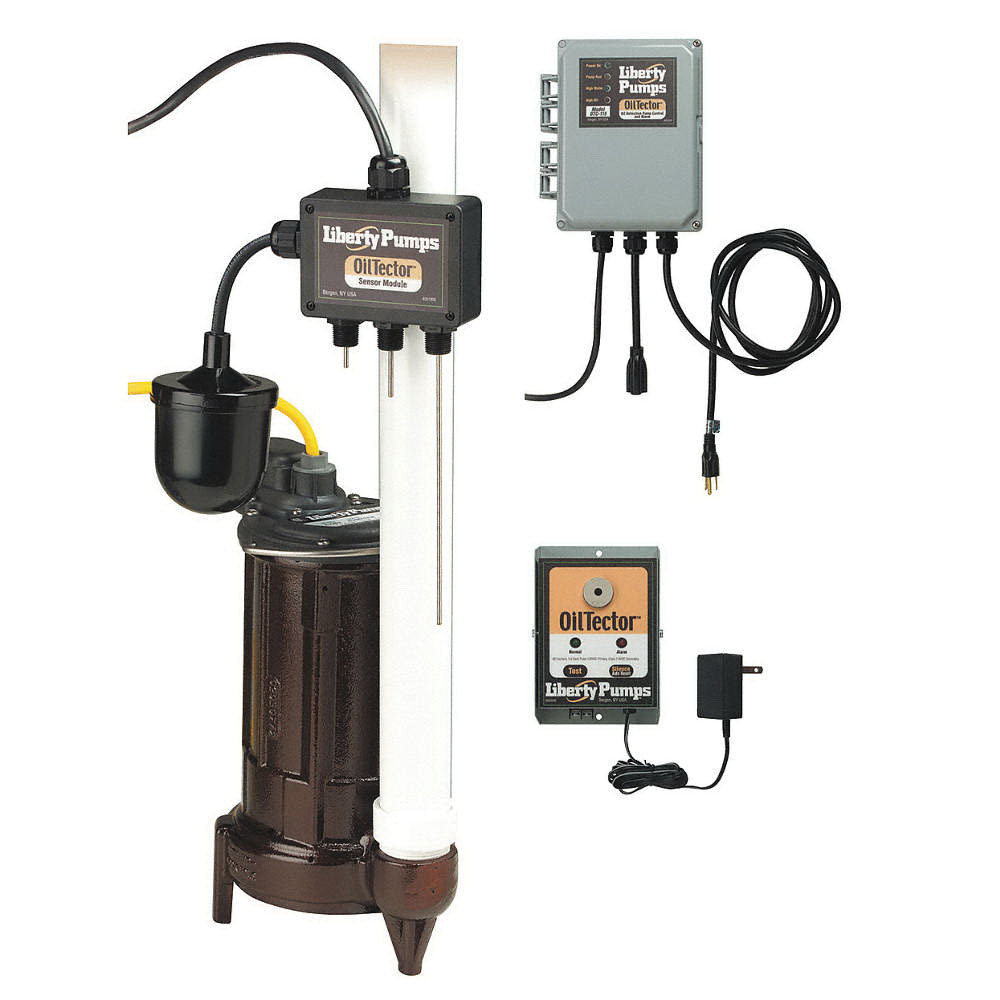 Liberty Pumps® ELV-280 Cast Iron 1-Phase Submersible Elevator Sump Pump with Oil Sensor, 65 gpm, 0.5 hp, 3450 rpm