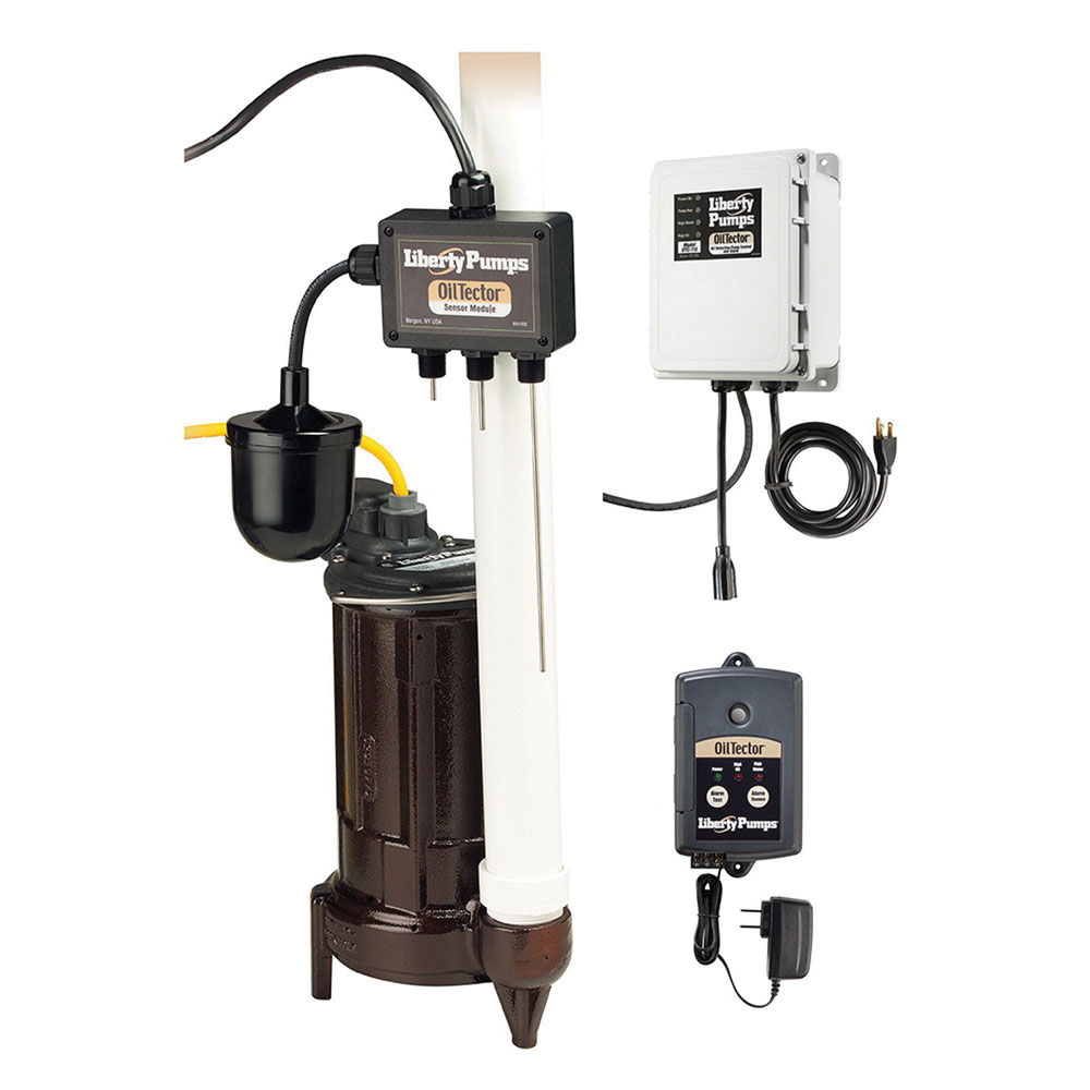 Liberty Pumps® ELV-290 Cast Iron 1-Phase Submersible Elevator Sump Pump with Oil Sensor, 48 gpm, 0.75 hp, 3450 rpm