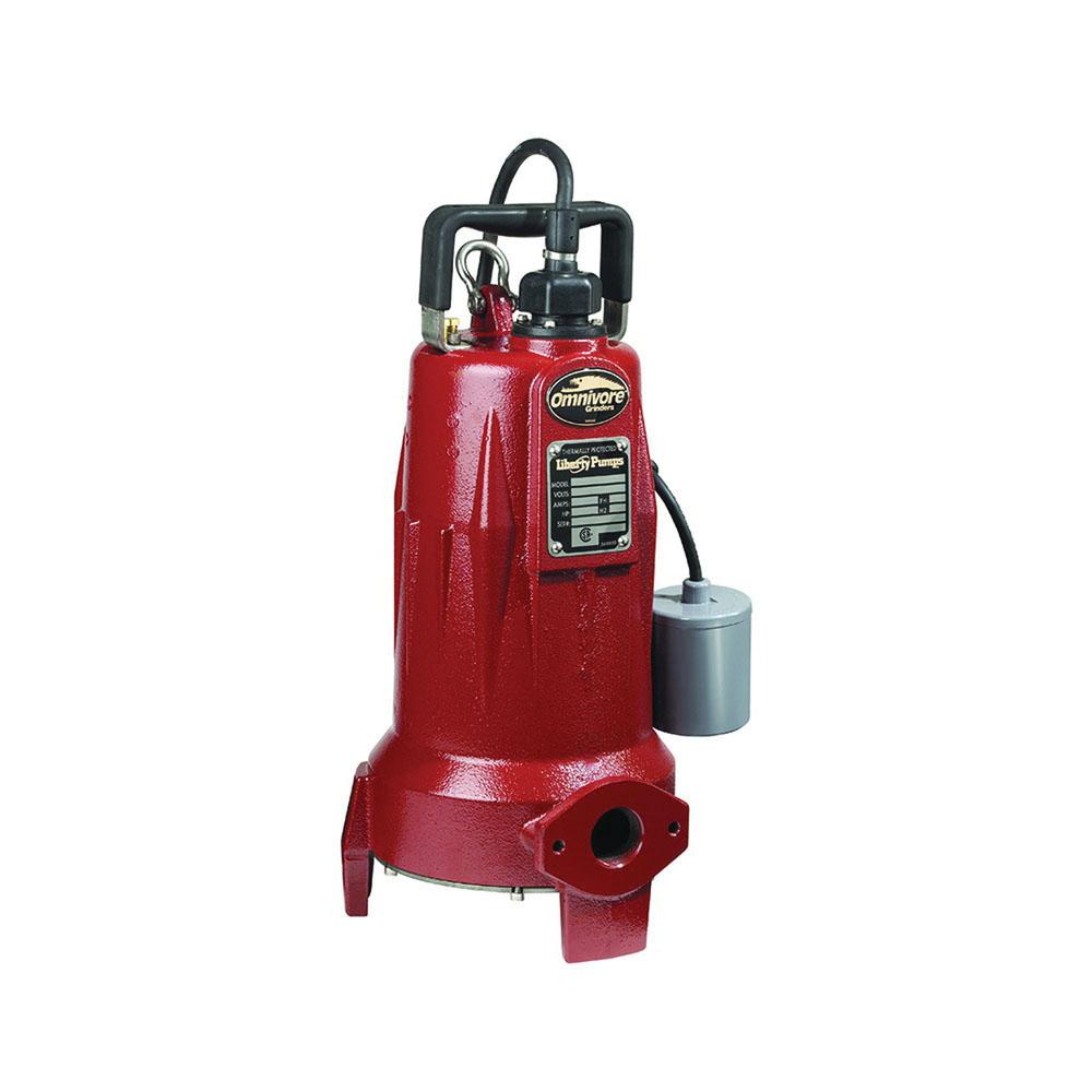 Liberty Pumps® Omnivore® LSG202A Automatic Grinder Pump, 1-1/4 in FNPT, 2 hp, 3450 rpm