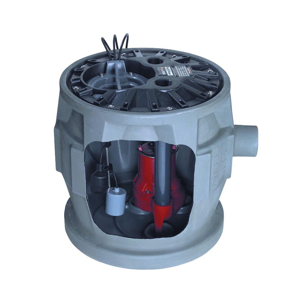 Liberty Pumps® P382LE51 Polyethylene Simplex Sewage Pump System, 55 - 140 gpm, 0.5 hp, 1725 rpm