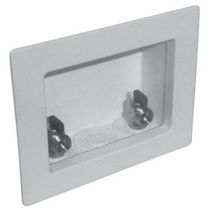 LSP™ Switch Hitter® OB-353 White Plastic Washing Machine Outlet Box, Center