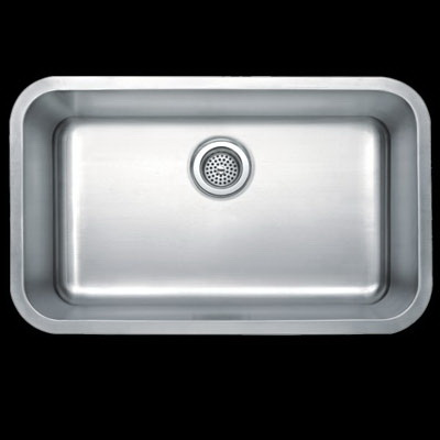 Masterpiece Sinks MPSU25185.5R 18 ga Stainless Steel Under Mount Undercounter Sink, 1-Bowl