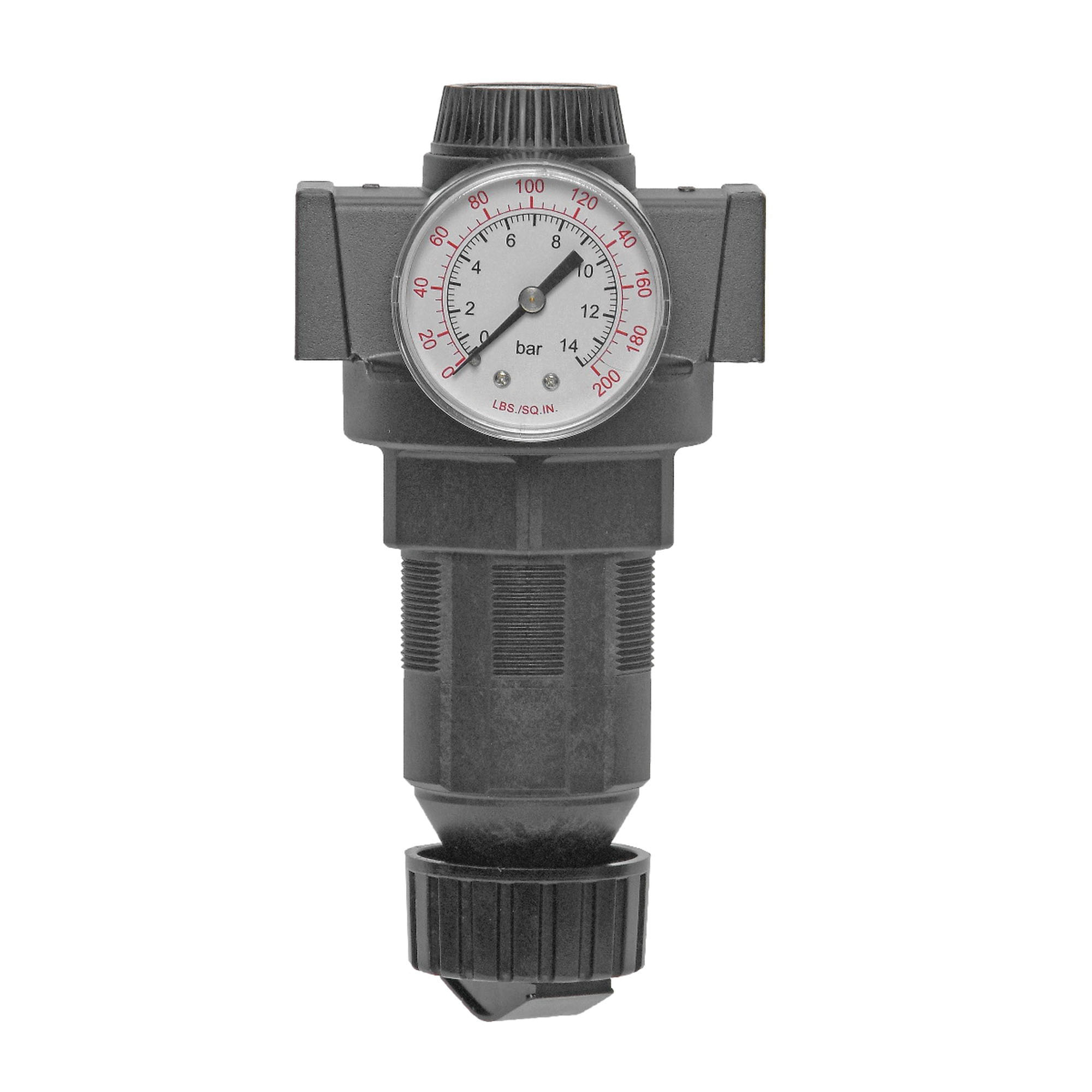 Master Pneumatic Vanguard R100-6 Zinc Full Size Pressure Regulator, 3/4 in NPTF, 300 psi Inlet, 125 psi Outlet, 40 - 175 deg F