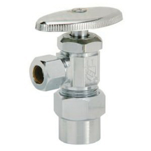 Matco-Norca™ 29-1019CPVCLF Brass Angle Supply Valve, 5/8 in x 3/8 in, CPVC
