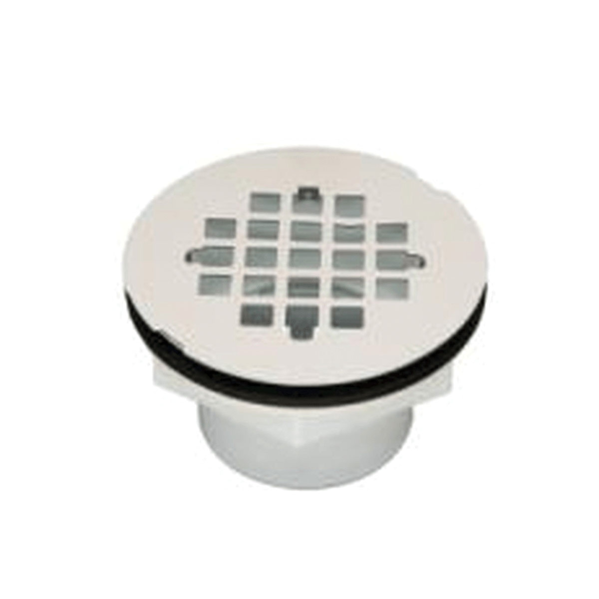 Matco-Norca™ SDP2WSW Plastic/Stainless Steel White Shower Drain with Strainer, 2 in, Solvent Weld