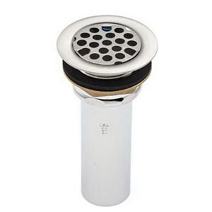 McGuire™ 149 Chrome Plated Cast Brass Flat Grid Strainer, 2-7/8 in, Threaded