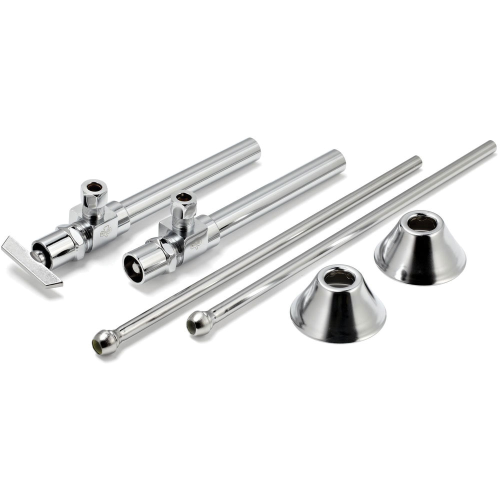 McGuire™ LF170LK Polished Chrome Brass Loose Key Lavatory Supply Kit, 1/2 in Sweat x 3/8 in Compression