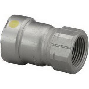 MegaPress®G 25596 Carbon Steel Pipe Adapter, 1-1/4 in x 3/4 in, Press x FNPT, Import