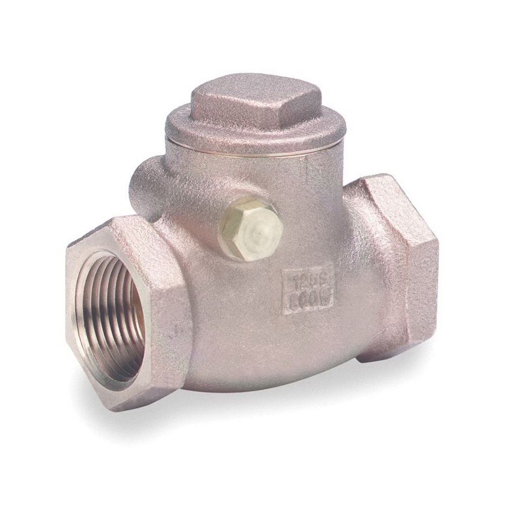 Milwaukee Valve 509T Bronze Horizontal Swing Check Valve, 1 in, Threaded, 200 psi
