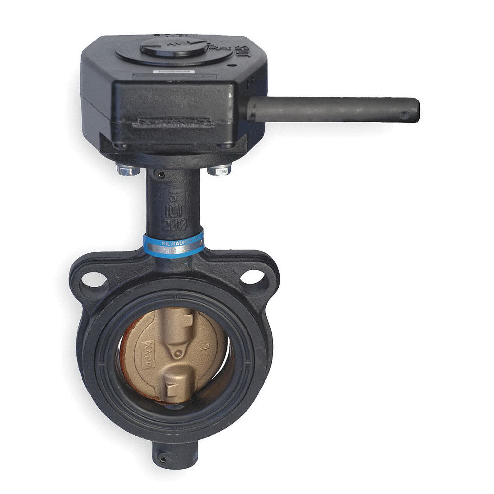 Milwaukee Valve CW323E Lead Free Cast Iron Butterfly Valve, 10 in, Wafer, 200 psi, -30 to 250 deg F