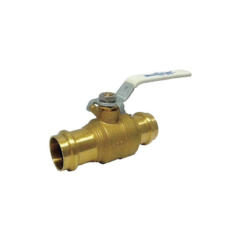 Milwaukee Valve Ultra-Pure™ UPBA480B Lead Free Forged Brass 2-Piece Full Port Ball Valve, Press, 200 psi, 250 deg F