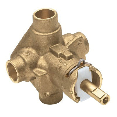 Moen® M-Pact® Posi-Temp® 62320 Polished Chrome Brass Deck Mount Rough-In Valve, 1/2 in, Copper