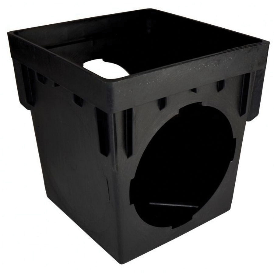 NDS® 1200 Black Polypropylene Square Catch Basin, 10-1/8 in x 10-1/8 in x 12-15/16 in