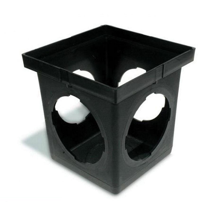 NDS® 1204 Black HDPE Square Catch Basin, 12-3/8 in x 12-3/8 in x 12-15/16 in