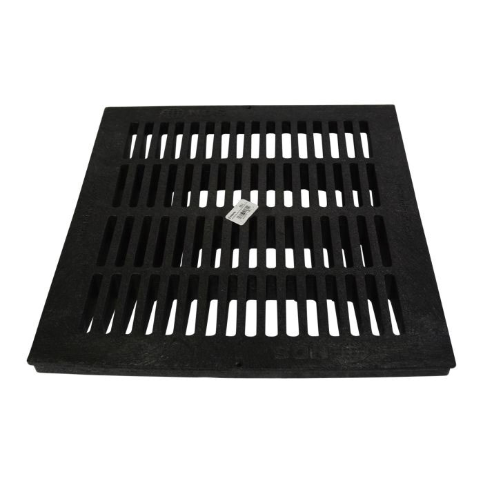 NDS® 1811 Black Foam Polyolefin Square Flat Catch Basin Grate, 264.03 gpm, 16.88 in x 16.88 in x 1 in