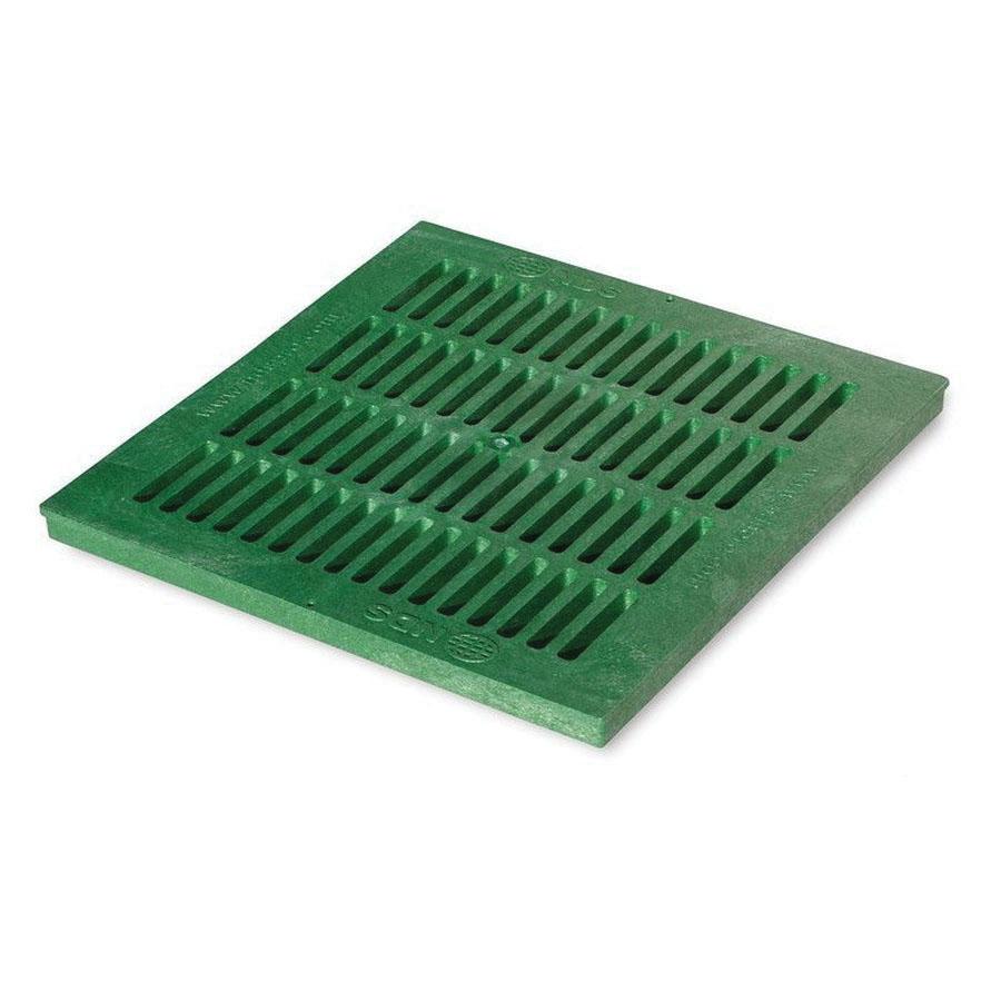 NDS® 1812 Green Foam Polyolefin Square Flat Catch Basin Grate, 264.03 gpm, 16.88 in x 16.88 in x 1 in