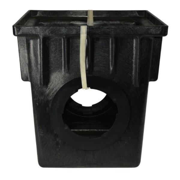 NDS® 1882 Black HDPE 1-Piece Square Catch Basin, 13 in x 13 in x 18-9/16 in