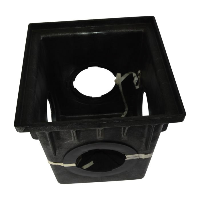 NDS® 1884 Black HDPE 1-Piece Square Catch Basin, 17-11/16 in x 17-11/16 in x 18-9/16 in