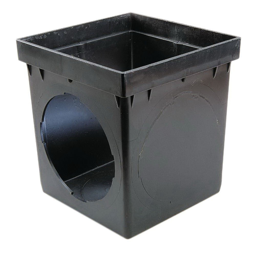 NDS® 900 Black Polypropylene Square Catch Basin, 8-1/8 in x 8-1/8 in x 10-1/8 in