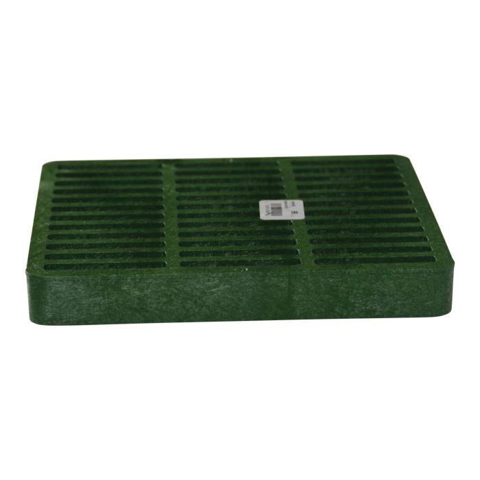 NDS® 990 Green HDPE Square Flat Drain Grate, 114.69 gpm, 9 in x 9 in x 1-1/8 in